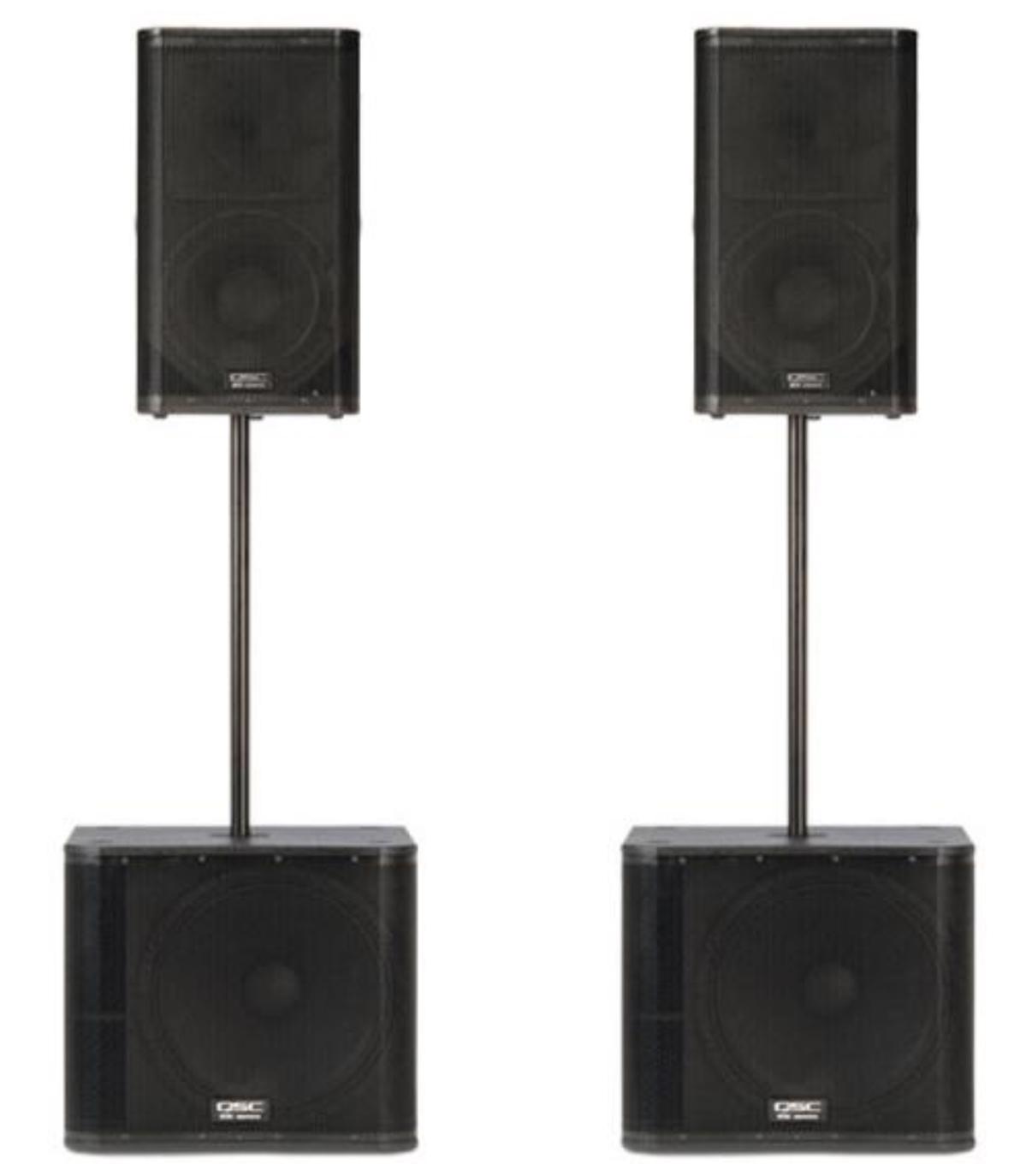 QSC set 4kW (2x K12 + 2x KW181)