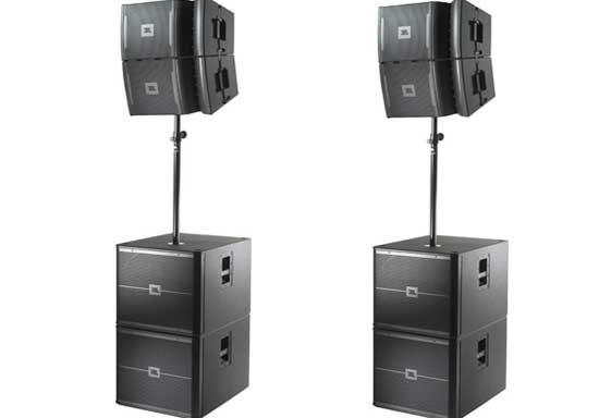 JBL VRX set (4x VRX932 + 4x SUB + Amprack)